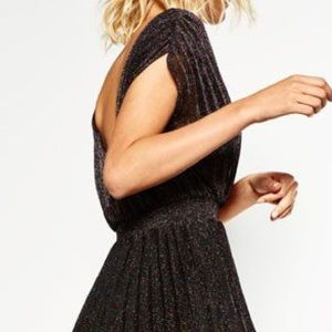 Gorgeous Zara glitter pleated dress